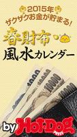 バイホットドッグプレス 春財布・風水カレンダーお金がザクザク貯まる 2015年 1/30号