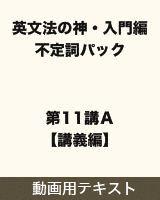 【テキスト】 英文法の神・入門編 不定詞パック 第11講A【講義編】