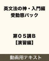 【テキスト】 英文法の神・入門編 受動態パック 第05講B【演習編】
