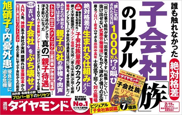週刊ダイヤモンド「子会社族のリアル」