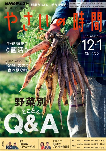 NHK 趣味の園芸 やさいの時間  2019年12月・1月号