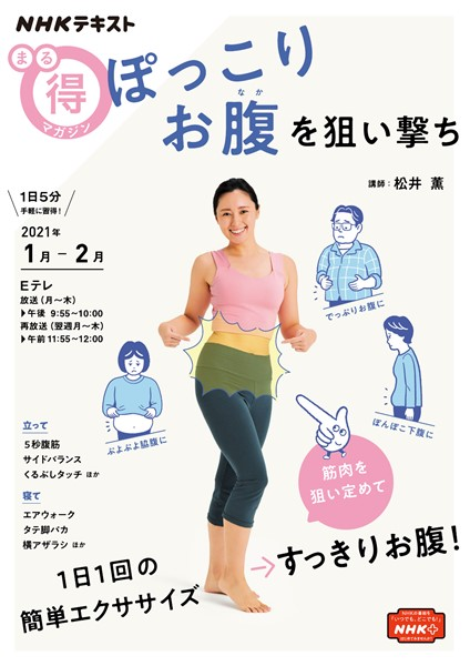 NHK まる得マガジン ぽっこりお腹を狙い撃ち 2021年1月/2月